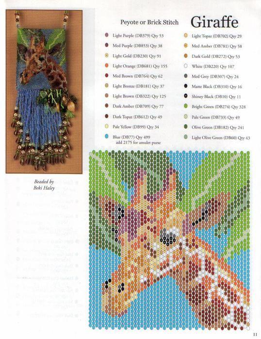 giraffe amulet bag
