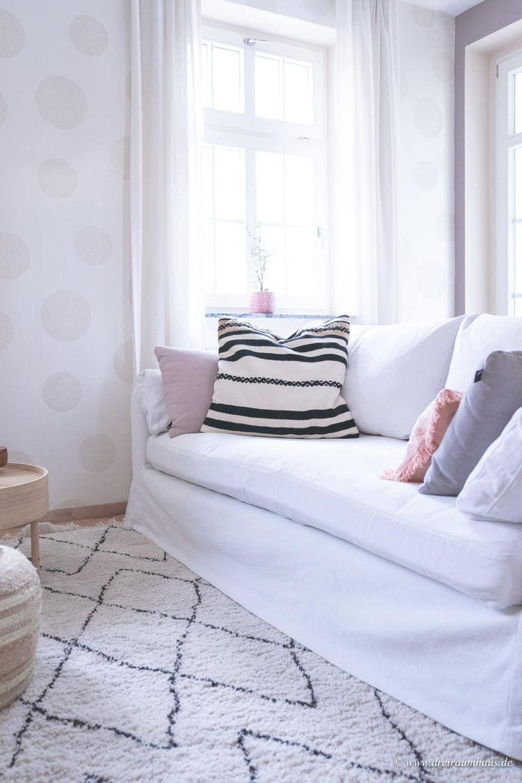Dekosamstag: Ein Diamantteppich für kuschelige Gemütlichkeit im Wohnzimmer …   – DEKOSAMSTAG im dreiraumhaus