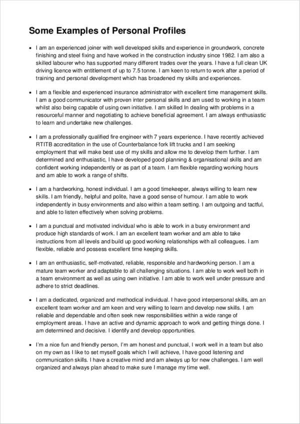 Amp Pinterest In Action Resume Profile Example Professional What To Write On Personal Statement Cv