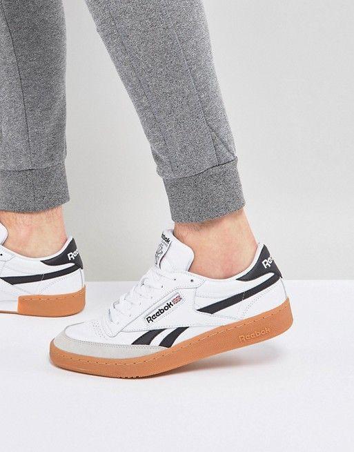 440c9cea746f9 Reebok Revenge Plus Gum Sneakers In White CM8791