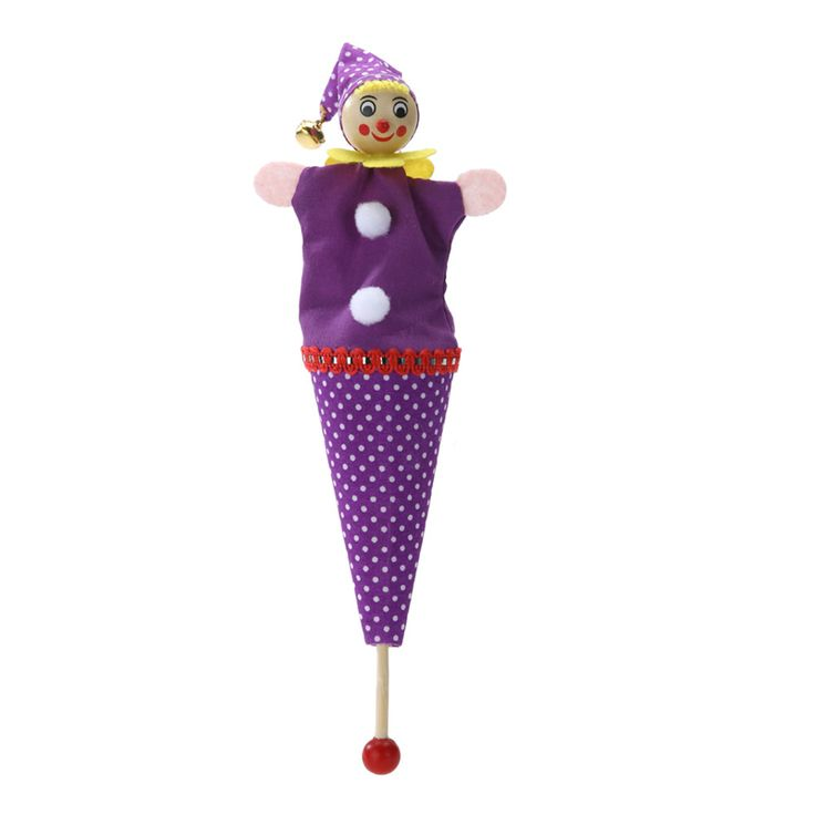 Retractable Smiling Clown Hide & Seek Play Jingle Bell baby Kids Funny Toy Random Color