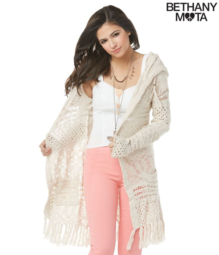 Hooded Drape Cardigan from Bethany Mota Collection at Aeropostale