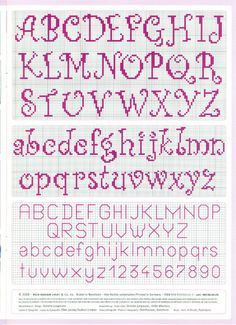 cross stitch alphabet nice curly easy to read -- looks easy to do