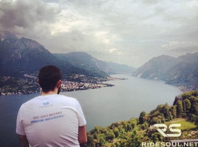 Looking at the beautiful landscape of the Lake of Como! #motorcycle #tour #italy