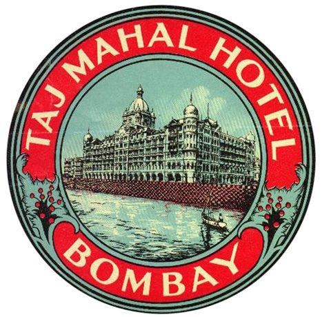 taj Majal Hotel India by Art of the Luggage Label, via Flickr
