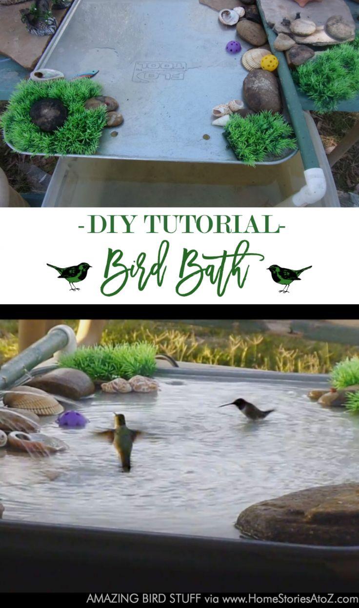 DIY bird bath tutorial