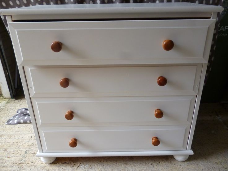 Pine chest upcycled with Farrow & Ball wimborne white