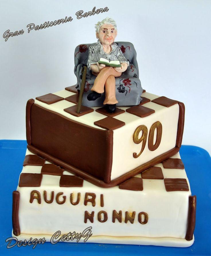 Le torte decorate di CettyG...: 90°Compleanno....