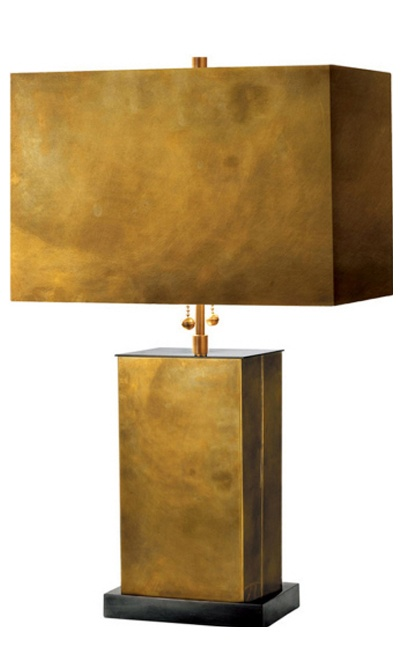 SMALL DIXON TABLE LAMP brass lamp metal shade. http://cococozy.com