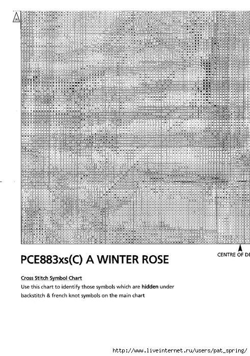 Мобильный LiveInternet Вышивка крестом.Зимняя роза | Pat_Spring - |