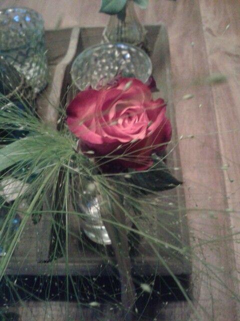 Het roosje ontvangen bij het behaalde kampioenschap met korfbal :-)