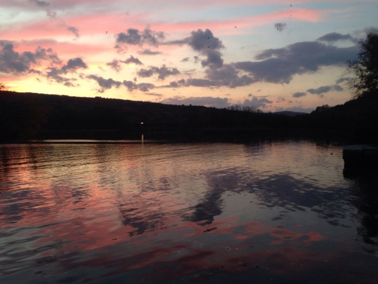 Sunset over Connecticut River.