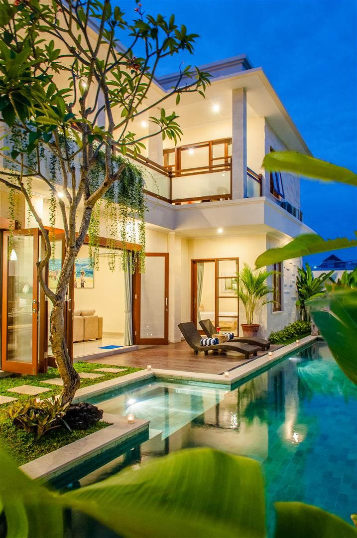 Seminyak, Bali. 5 BDR Private Villa starts from USD$ 275~ || info@affittabali.com || Villa Tepi Sungai is a beautiful and modern 5 bedroom villa located between Seminyak and Legian, one of Bali's most sought-after area. The beautiful Double Six beach, with its amazing beach clubs and its super fun waves, is a mere 20 minutes walk away. Renowned restaurants and healthy cafes are also within walking distance from → Read more
