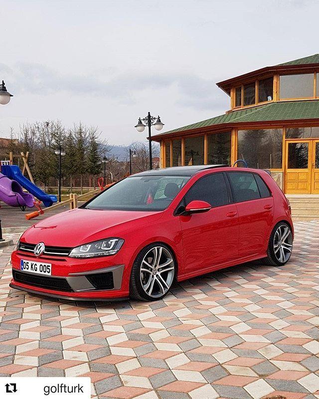 Volkswagen Polo 2 0 Tsi Gti 5dr Dsg Hatchback: Red Oettinger Roof Spoiler On Dark Car GTI Cars Volkswagen