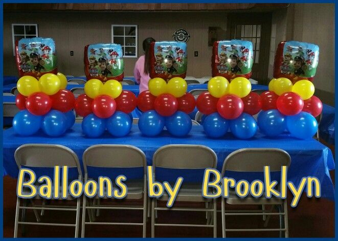 Paw patrol centerpieces balloons by brooklyn