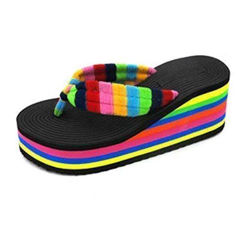 Oferta: 5.87€. Comprar Ofertas de Chanclas mujer plataforma gruesa, Culater Sandalias de verano zapatillas de interior al aire libre zapatos de playa (38, Negr barato. ¡Mira las ofertas!