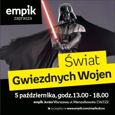 """Konkursy z nagrodami, widowiskowe szkolenia Jedi dla dzieci, prawdziwy droid R2-D2 i sam Lord Vader! Zapraszamy na wyjątkowe wydarzenie z okazji premiery DVD obu trylogii """"Gwiezdnych Wojen"""" z polskim dubbingiem! Niech Moc będzie z Wami :)"""
