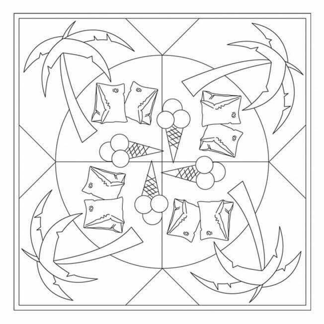 Summer Mandala Coloring Page