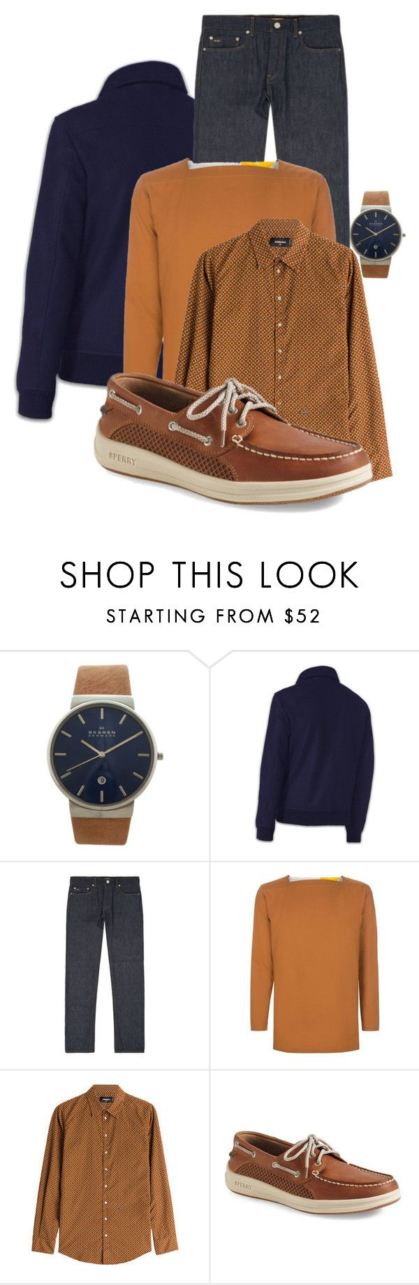 Menswear | Fall Casuals by simply-one on Polyvore featuring Dsquared2, Paul Smith, Michael Kors, Sperry, Skagen, men's fashion and menswear