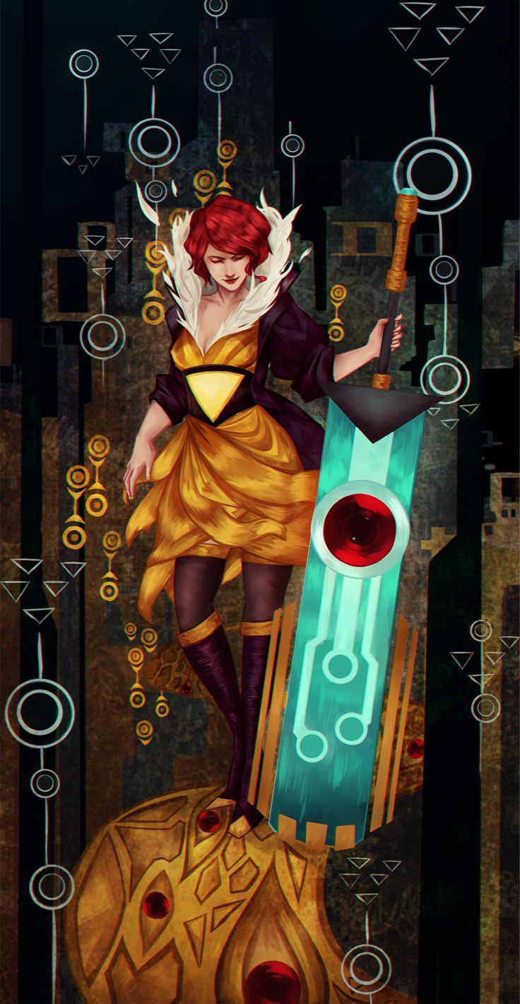 Transistor Fan Art - Created by Robas Arel // almost looks like it's fresh out of the dev design team. Great work!