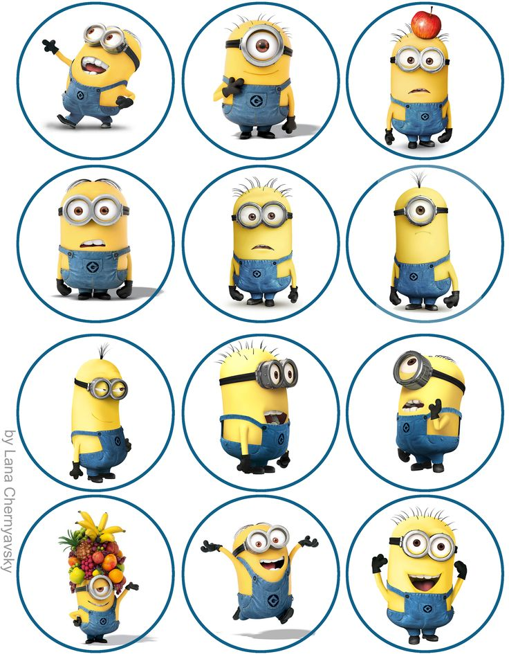 Minions topper for cupcakes