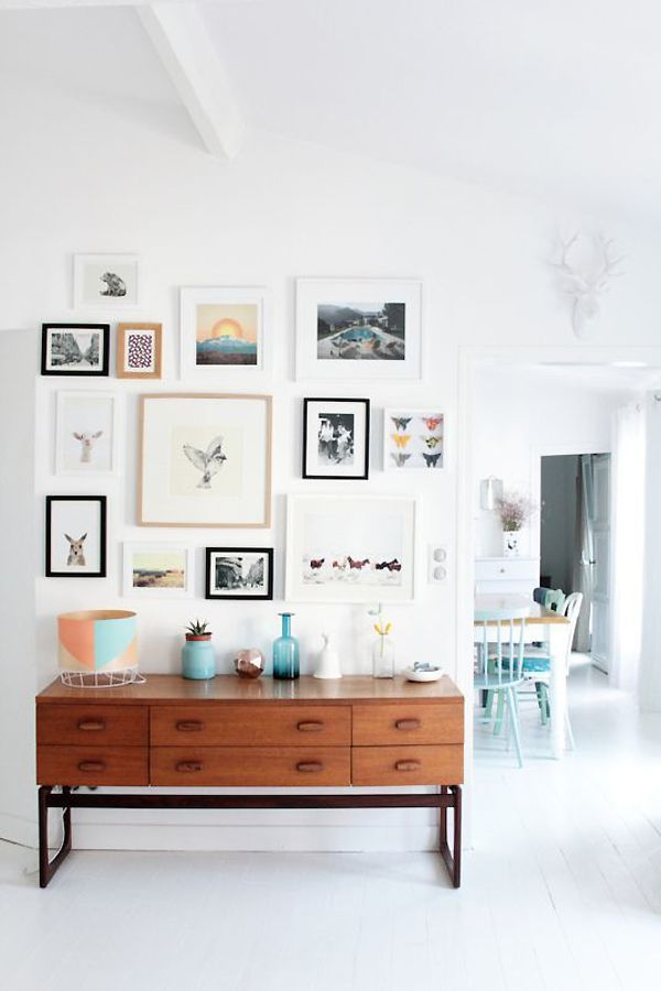 Gallery wall inspiration: mix and match art. Are you looking for unique art photo prints (not the ones featured in this pin) to create your gallery walls? Visit bx3foto.etsy.com and follow us on Instagram @bx3foto