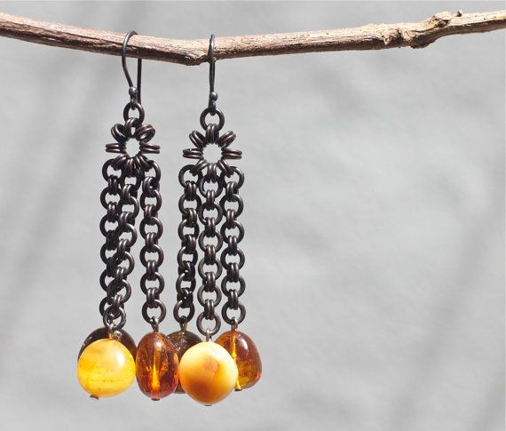 Baltic amber earrings Baltic amber jewelry by FlowerOfParadise @maijajewelry #etsyspecialT #tintegrityT