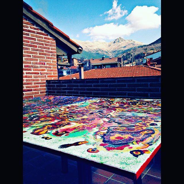 Últimos retoques ... #art #arte #creativeprocess #inprogress #creativity #instaart #instacool #studiolife #studio #painting #abstract #liveauthentic #originalart #paintings #painter #life #passion