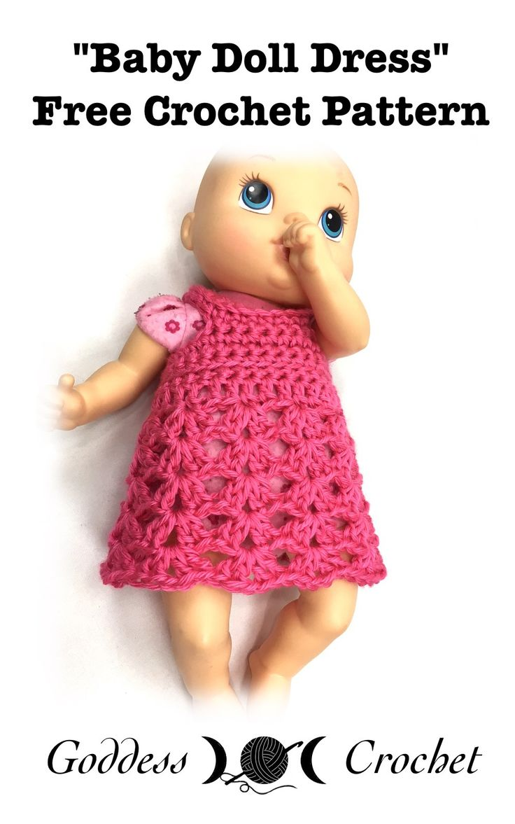 Crochet Pattern Baby Doll Dress Slugom for