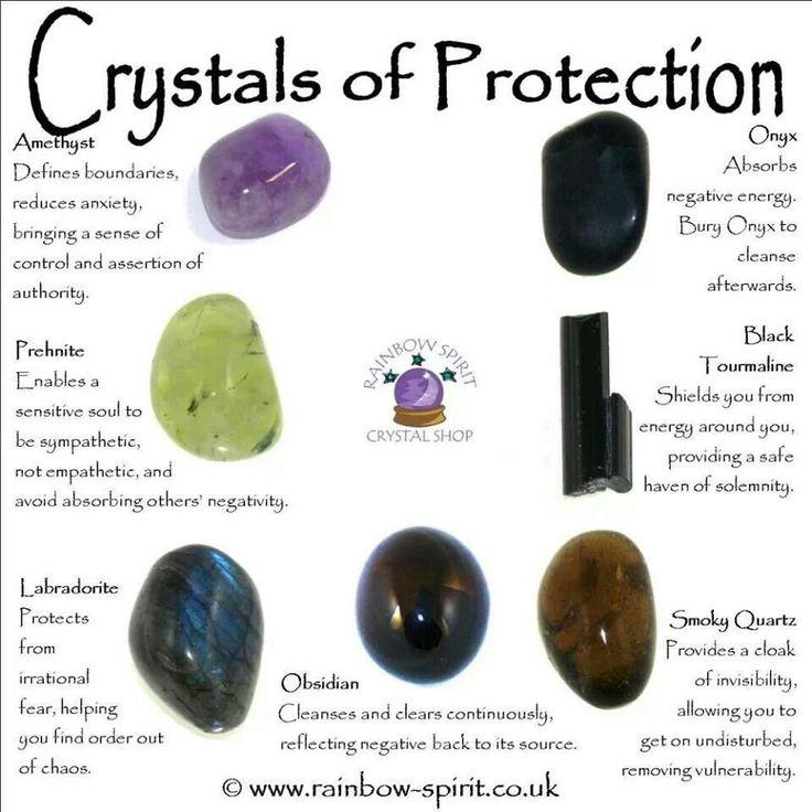 Crystals for Protection amethyst, labradorite, obsidian, smoky quartz, onyx, black tourmaline, prehnite