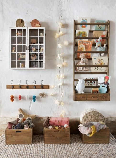 Idées de rangement #vintage pour une chambre d'enfants #bedroom #kiddos