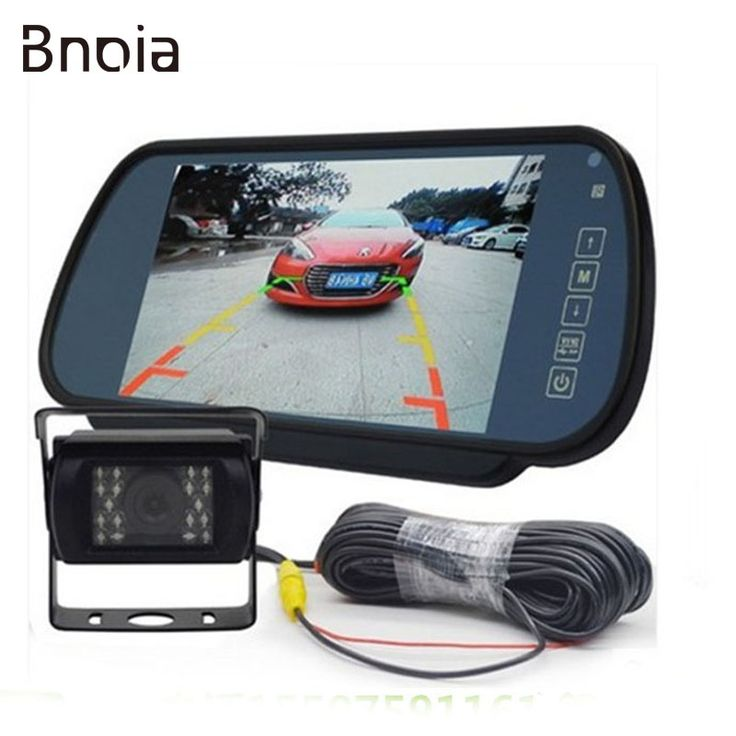 7inch 12-24V LCD Rear Monitor Car Rear View Reverse System Waterproof IR Night Vision Vehicle Backup Camera for Bus/ Truck