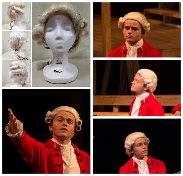 "Gustavus Adolphus College November 2017 ""Our Country's Good"" by Timberlake Wertenbaker Wig for Captain Philip"