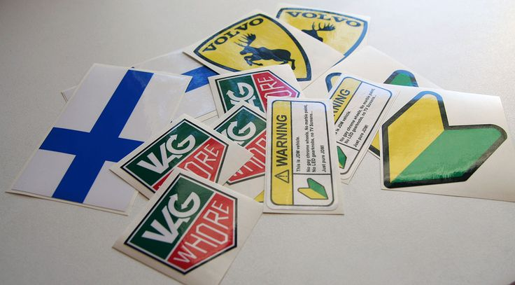 Stickers stickers stickers :) Get some -> http://shop.eteippi.fi #jdm #euro #stance #oldschool