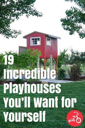 Plastic, makeshift, hand-me-down—any outdoor playhouse will do when you're a little one. But, from mini-mansions with actual lofts to a ridiculously realistic 1950s diner, there are some truly mind-blowing kiddie play pads out there. #playhouses #treehouses #outdoorplay #playhouse #DIY #DIYplayhouse