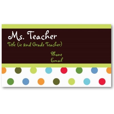7 best business cards images on pinterest cards teacher business hip dots teacher business card accmission Image collections