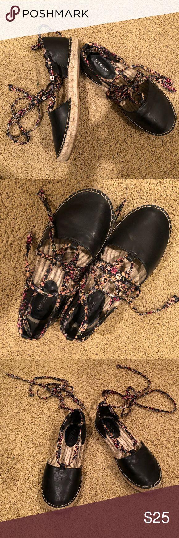Topshop espadrilles CUTE floral topshop tie-up espadrilles Topshop Shoes Espadrilles