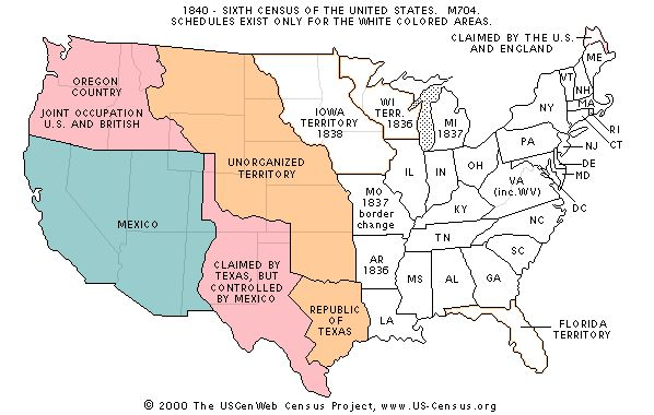 this is a map of the united stated in in the space of 20 years texas changed shape 3 times