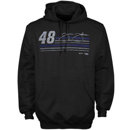 NASCAR Jimmie Johnson Pullover Hoodie Sweatshirt – Black (Medium) « racedayproducts.com