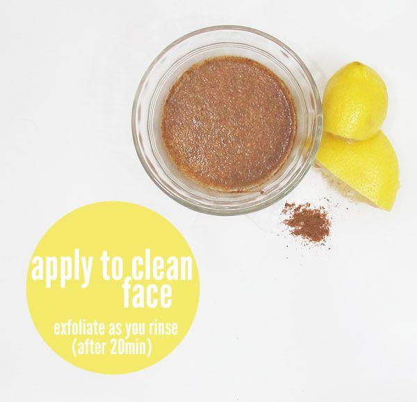 DIY- baking soda, nutmeg & lemon facemask