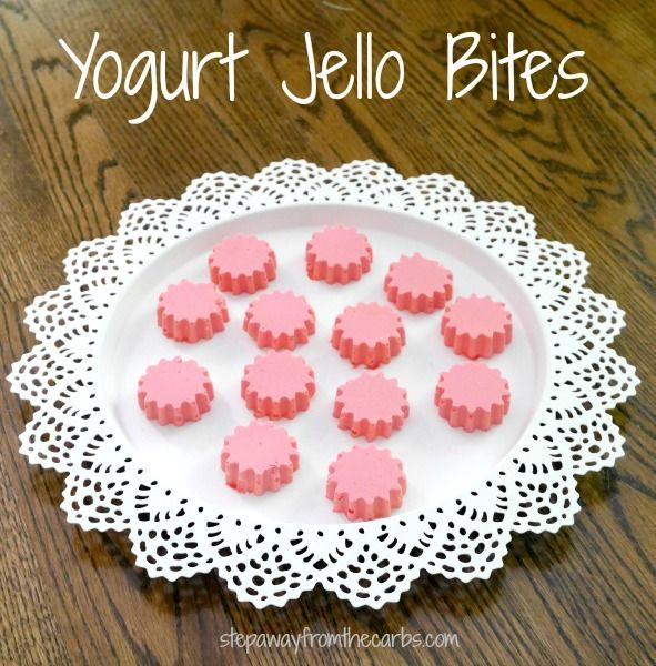 These yogurt jello bites are the perfect low carb sweet snack!