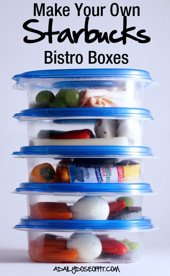 Make your own Starbucks Bistro boxes! It's a healthy, easy on-the-go snack or meal. / A Daily Dose of Fit