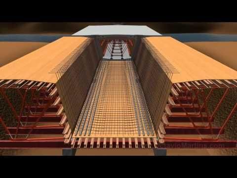 Bridge construction - Incremental Launching - 3D Animation - YouTube