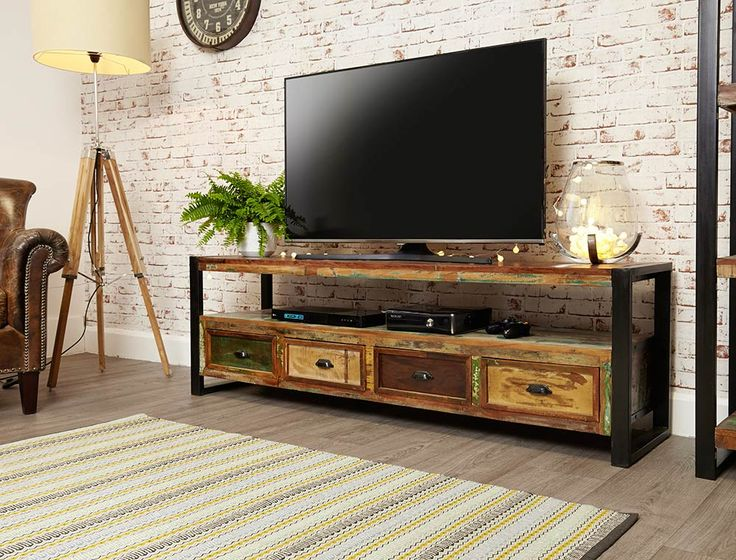 Buy Baumhaus Urban Chic Open Widescreen Television Cabinet Online By  Baumhaus Furniture From CFS UK At Unbeatable Price.
