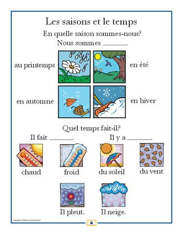 French Weather Poster - Italian, French and Spanish Language Teaching Posters | Second Story Press