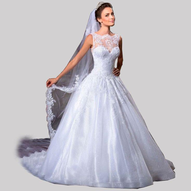 Find More Wedding Dresses Information About Vestido De Noiva 2015 Sheer Illusion