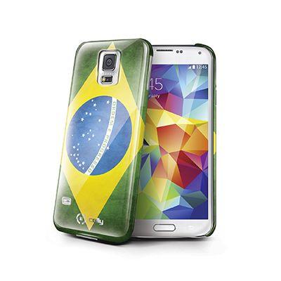 Cover vintage BRASILE per Galaxy S5 effetto opaco. La cover, sagomata, aderisce perfettamente ai bordi del dispositivo Samsung proteggendolo da cadute accidentali, urti, graffi e sporco senza deformarsi o allentarsi, garantendo facile accesso a comandi, connettori, speaker e fotocamera, e permettendo di ricaricare il device senza estrarlo dalla cover. Gelskin4Fun Celly è la soluzione ergonomica ideale per proteggere il telefono che dona un aspetto vintage allo smartphone.