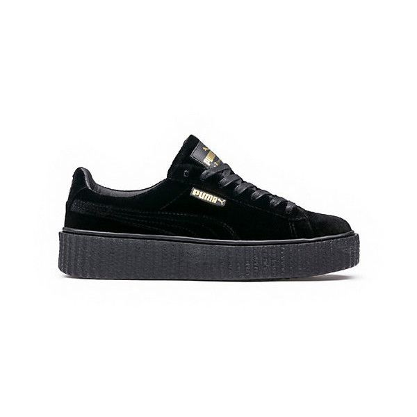 PUMA BY RIHANNA MEN'S VELVET CREEPER ($150) ❤ liked on Polyvore featuring men's fashion, men's shoes, men's sneakers, mens puma creeper, mens platform sneakers, puma mens shoes, mens platform shoes and mens sneakers