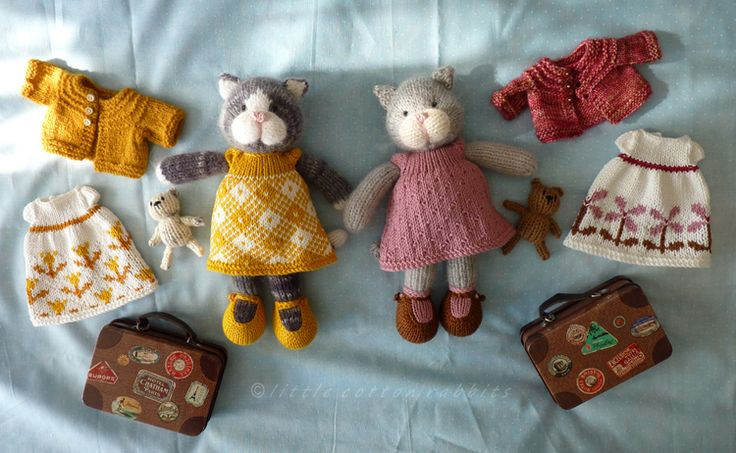 knitted cats and gorgeous clothes from Little Cotton Rabbits