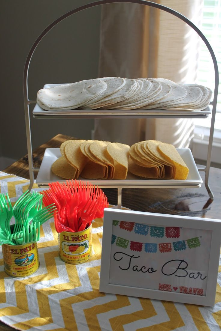 Taco Bar (surprise engagement party Fiesta) ideas